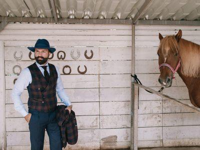 tartan waistcoat men's style