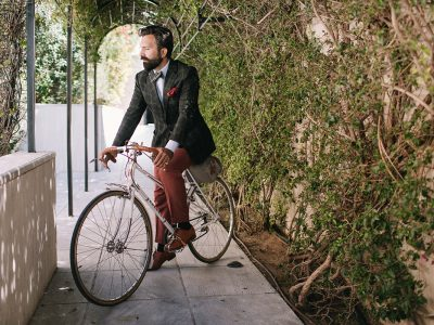Riding a Vintage Bike in Style