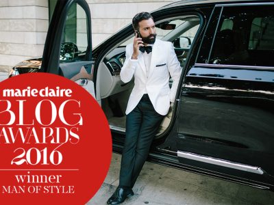 MAN of STYLE 2016 Winner at Marie Claire Blog Awards