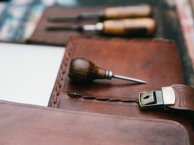 Handmade leather laptop case