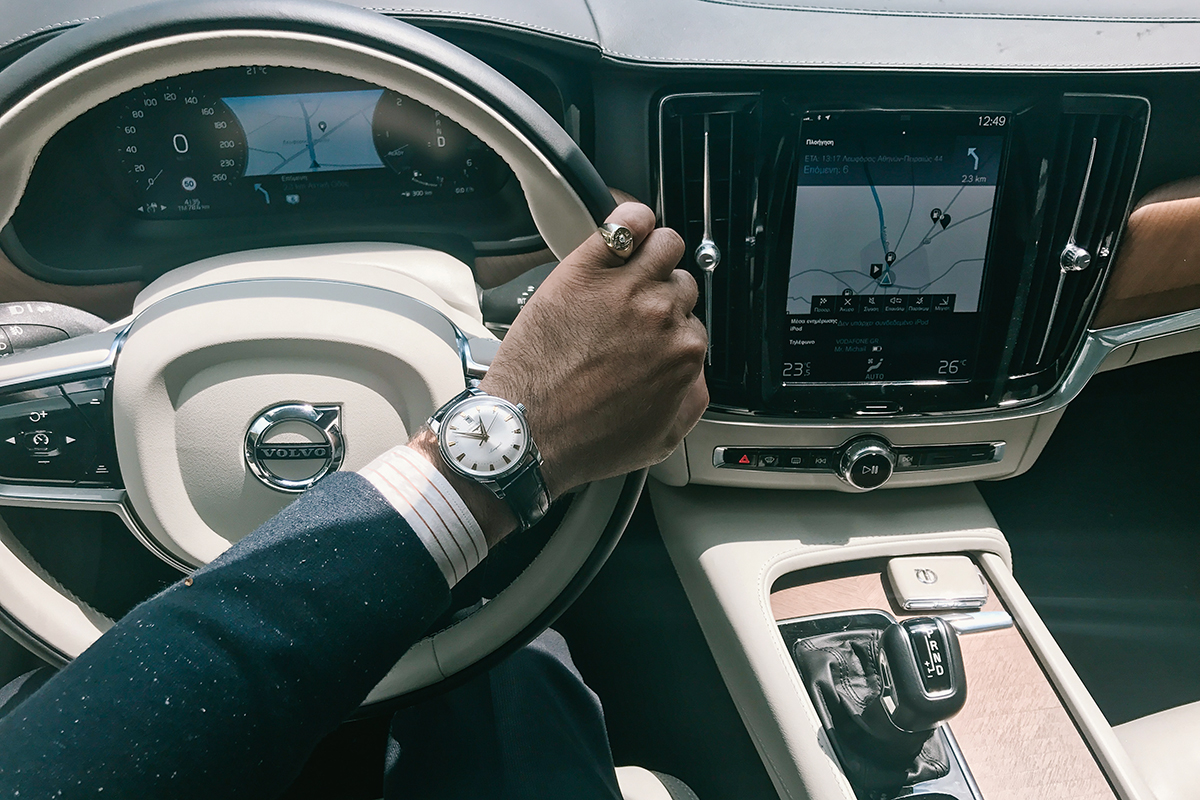 volvo s90 interior longines watch