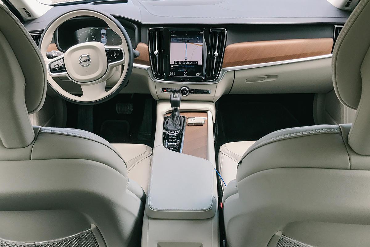 volvo s90 interior beige leather