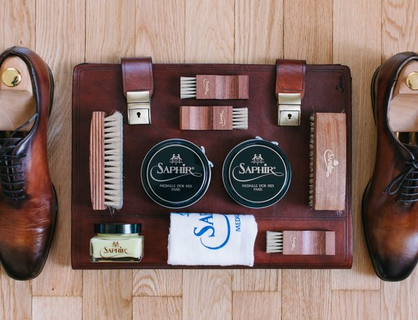 saphir leather shoe care patina