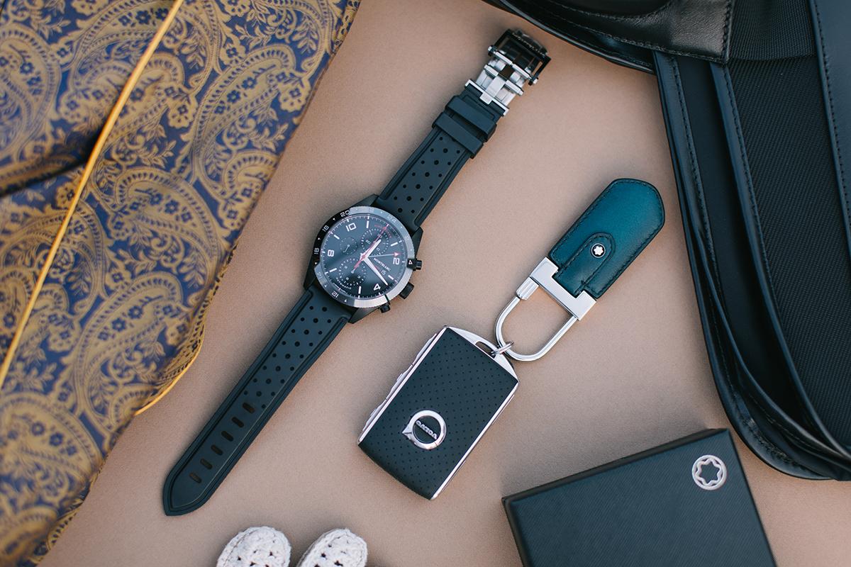 montblanc keychain watch