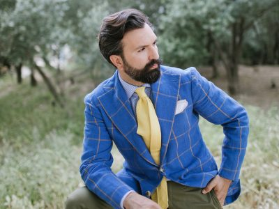 blue windowpane jacket
